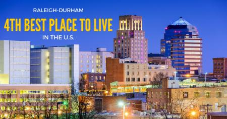 Durham raleigh voted as 4th best place to live in the u s for Best places to live us