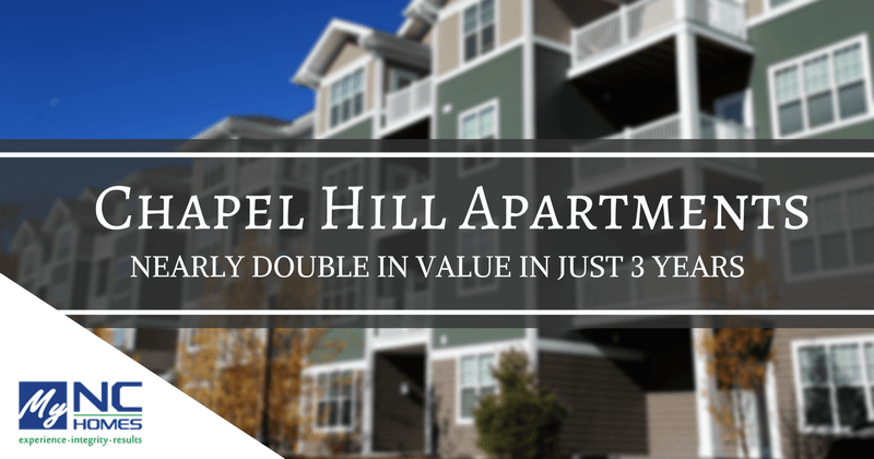 Chapel Hill apartment values double in three years