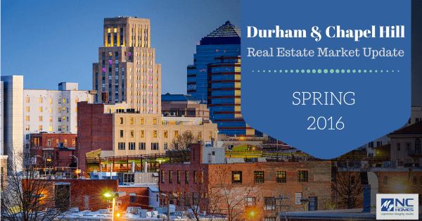 Durham & Chapel Hill real estate market update - Spring 2016