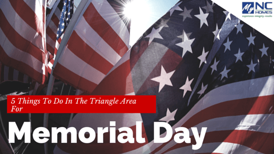 Memorial Day in Durham, Cary, & Chapel Hill